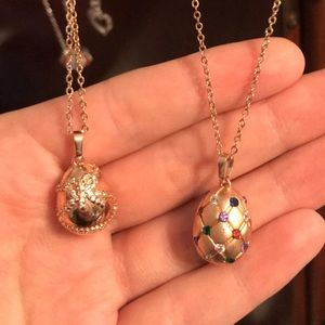 2 Fragrant Jewels Easter Egg Necklaces!